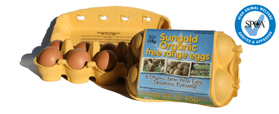 Sungold Organic 6 pack and 10 pack of eggs